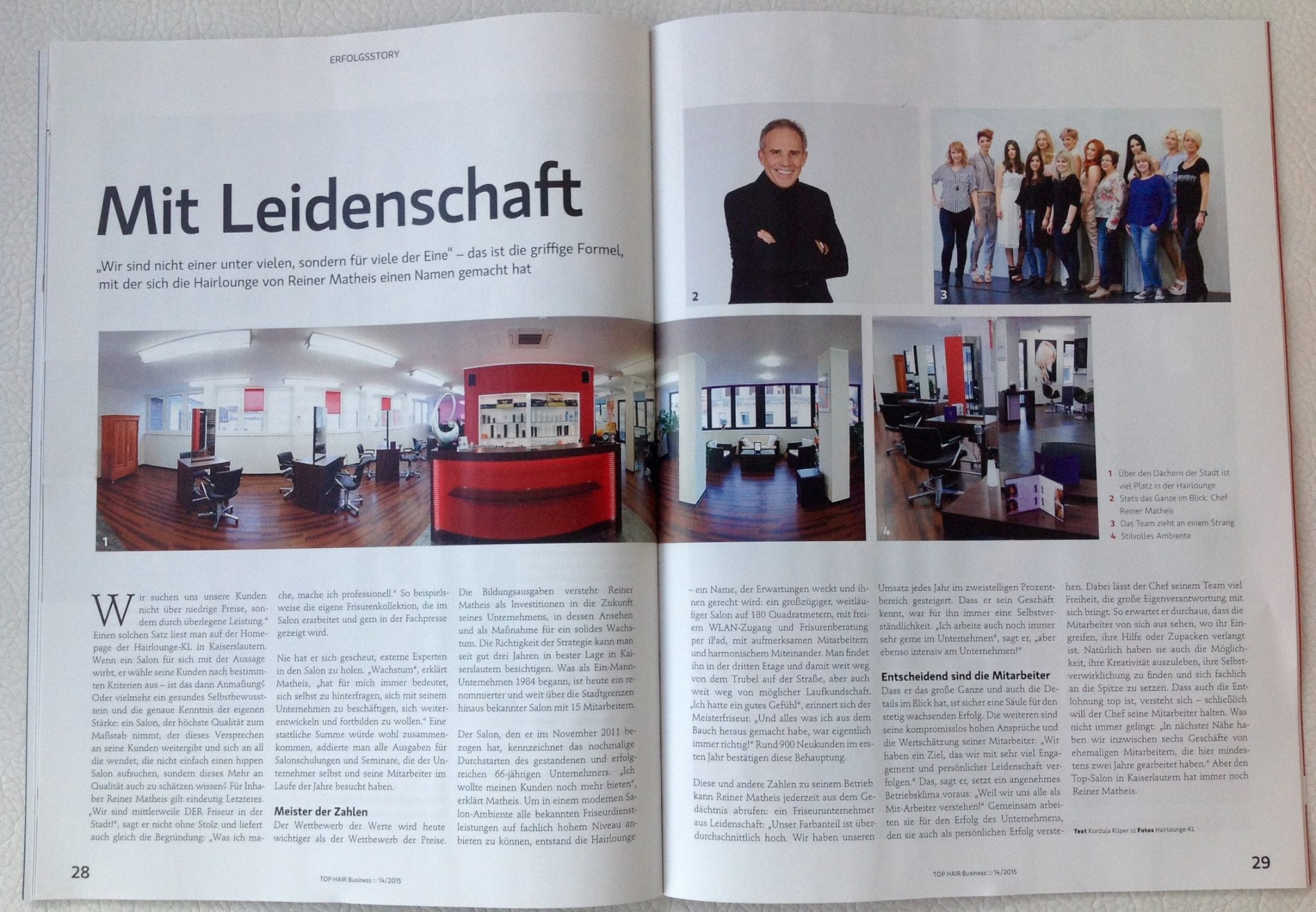 Reportage in der TOP HAIR INTERNATIONAL