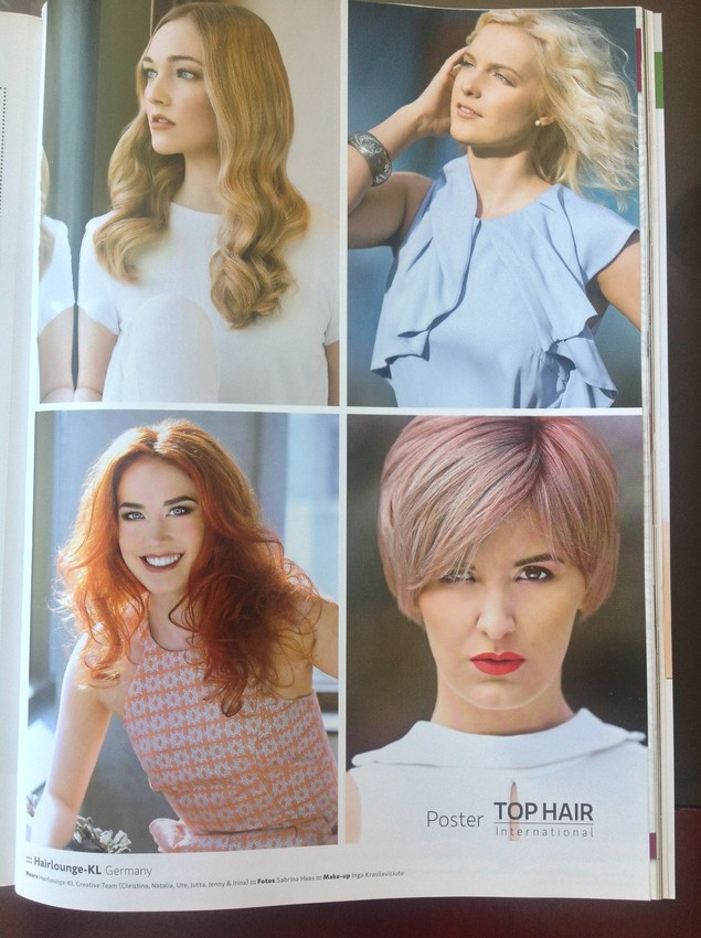 Frisuren-Kollektion 2015 in der TOP HAIR INTERNATIONAL